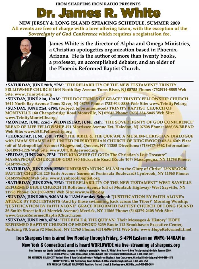 James White Schedule